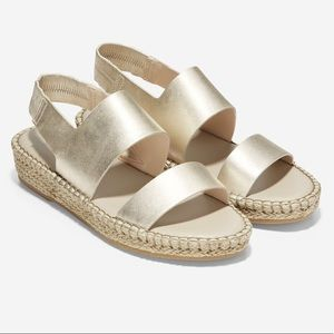 Gold Cole Haan sandals